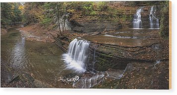 Buttermilk Creek Falls Wood Print by Mark Papke