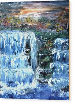 Buttermilk Falls Wood Print by Denise Tomasura