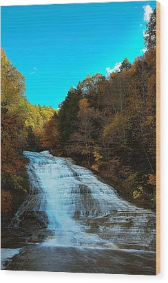 Wood Print featuring the photograph Buttermilk Falls Ithaca New York by Paul Ge