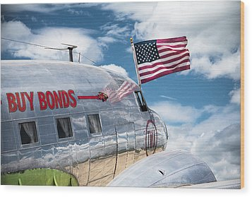 Wood Print featuring the photograph Buy Bonds by Steven Bateson