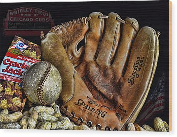 Buy Me Some Peanuts And Cracker Jacks Wood Print by Ken Smith