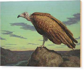 Buzzard Rock Wood Print by James W Johnson