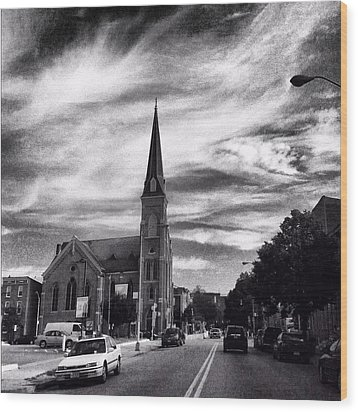 Wood Print featuring the photograph Bw Hanover Street by Toni Martsoukos