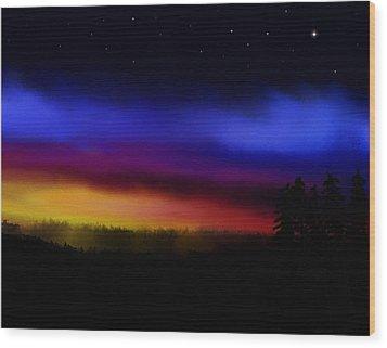 By Dawns Early Light Wood Print by Steve Hermann