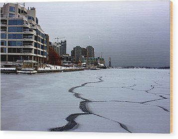 By Frozen Harbour Wood Print