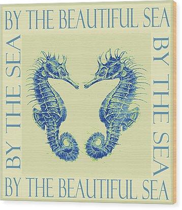by the beautiful sea II Wood Print by Jane Schnetlage