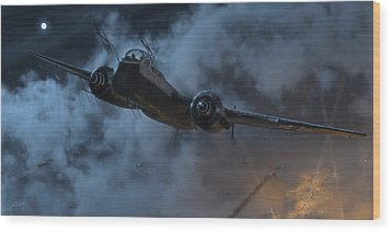 Nightfighter Wood Print