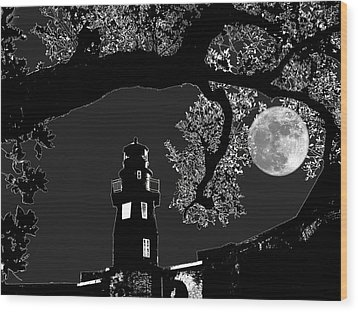 Wood Print featuring the photograph By The Light by Robert McCubbin