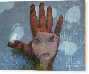 Wood Print featuring the digital art By The Pricking Of My Thumb by Barbara Orenya