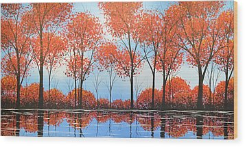 Wood Print featuring the painting By The Shore by Amy Giacomelli