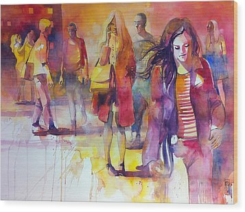 By The Street Wood Print by Alessandro Andreuccetti