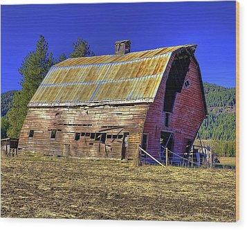 Bygone Barn Wood Print