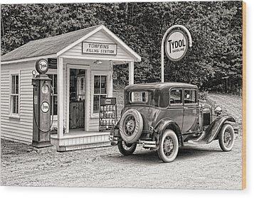 Bygone Days Wood Print by Brenda Hackett