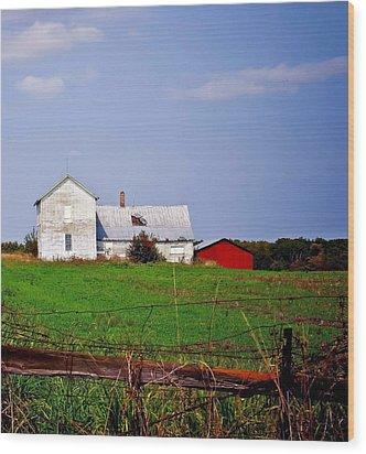 Bygone Farmstead Wood Print