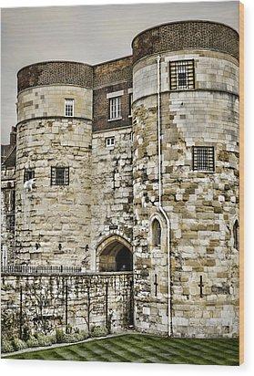 Byward Tower Wood Print by Heather Applegate