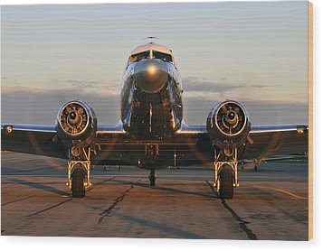 Wood Print featuring the photograph C-47 Skytrain by Dan Myers