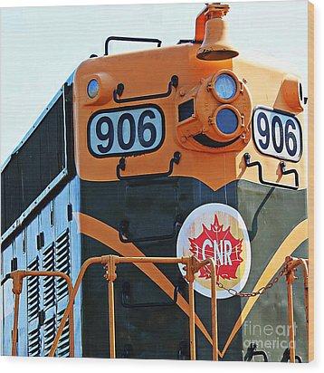 C N R Train 906 Wood Print by Barbara Griffin