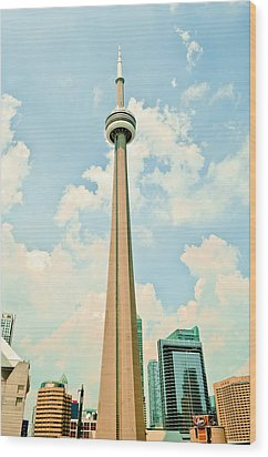 C N Tower Wood Print by BandC  Photography