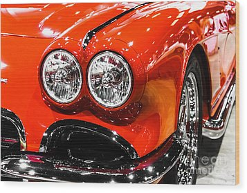 C1 Red Chevrolet Corvette Picture Wood Print by Paul Velgos