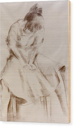 C12. Dancer Resting Wood Print