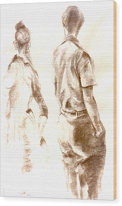 C13. Friends Wood Print
