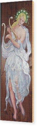 C14. Harpist Wood Print