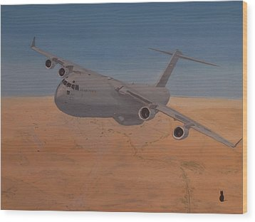 C17 Out Of Baghdad Wood Print by Jonathan Laverick