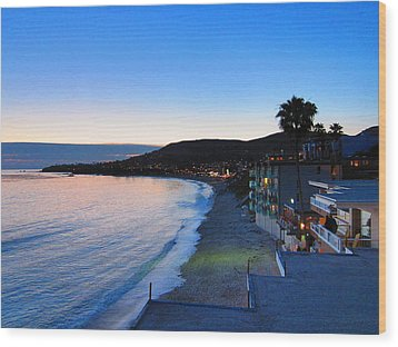 Ca Beach - 121238 Wood Print by DC Photographer