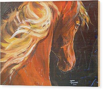 Caballo De La Luz Wood Print by Janina  Suuronen