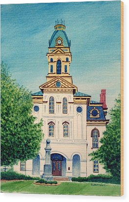 Cabarrus County Courthouse Wood Print