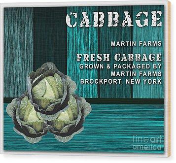 Cabbage Farm Wood Print