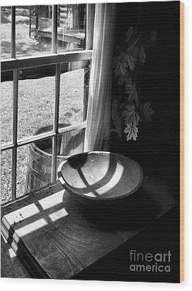 Cabin Crosses II Wood Print by Julie Dant