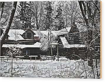 Wood Print featuring the photograph Cabin In The Woods by Deborah Klubertanz