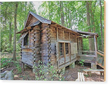 Wood Print featuring the photograph Cabin In The Woods by Gordon Elwell
