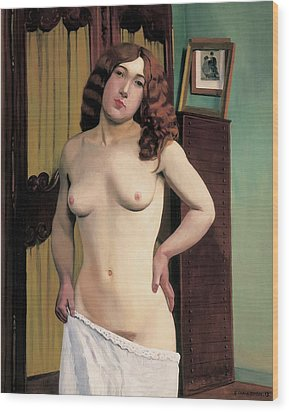 Cabinet Chest Wood Print by Felix Edouard Vallotton