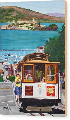 Cable Car No. 17 Wood Print by Mike Robles