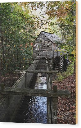 Cable Grist Mill 3 Wood Print by Mel Steinhauer