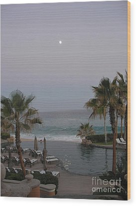 Cabo Moonlight Wood Print by Susan Garren
