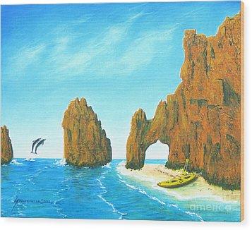 Cabo San Lucas Mexico Wood Print by Jerome Stumphauzer