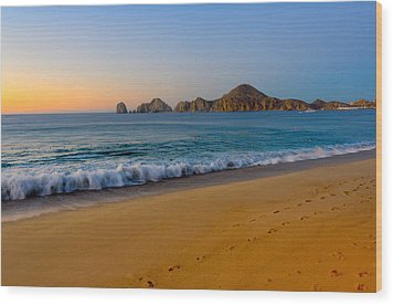 Cabo San Lucas Morning Wood Print by Mark Goodman
