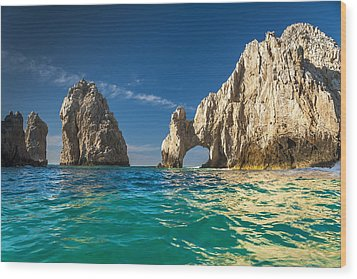 Cabo San Lucas Wood Print by Sebastian Musial
