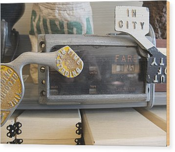 Wood Print featuring the photograph Cabometer by Scott Kingery