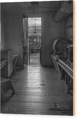 Caboose Door Wood Print
