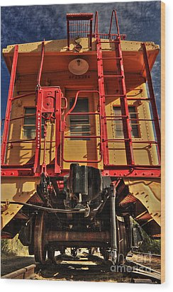 Caboose Wood Print by James Eddy