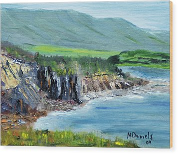 Wood Print featuring the painting Cabot Trail Coastline by Michael Daniels