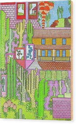 Cacti4j Wood Print