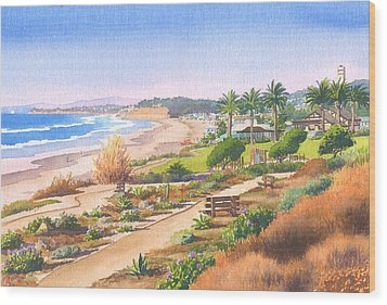 Cactus Garden At Powerhouse Beach Wood Print by Mary Helmreich