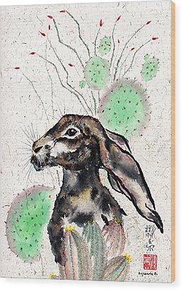 Cactus Jack Wood Print by Bill Searle