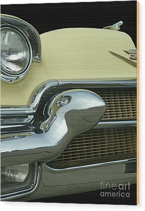 Wood Print featuring the photograph Caddy Classic Yellow-1 by Cheryl Del Toro