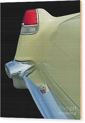 Wood Print featuring the photograph Caddy Classic Yellow-2 by Cheryl Del Toro
